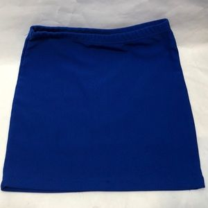 Forever 21 Mini Skirt Size Medium Color  Blue